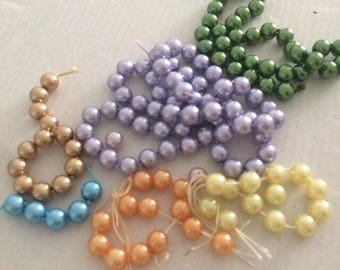 waxed beads 8 mm from 148-mixed