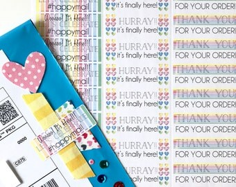 RAINBOW Stickers - Shipping/ Packaging Rectangle
