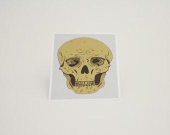 Postcard Skull illustration