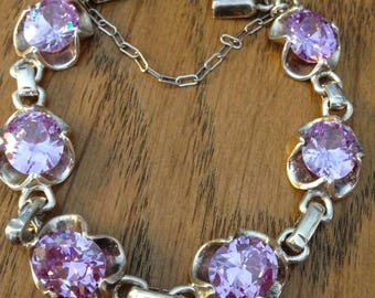 Sterling Purple Gemstone Bracelet