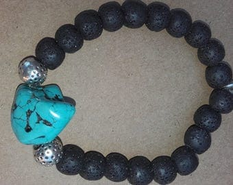 Bracelet of the turquoise volcanoes in the Budhha man birthday tea I want to
