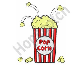 Pop Corn Bucket - Machine Embroidery Design