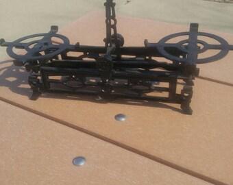 Antique 3kg Black Cast Iron Balance Scale