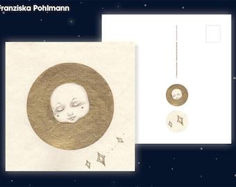 """Postcard """"Golden Ball"""""""