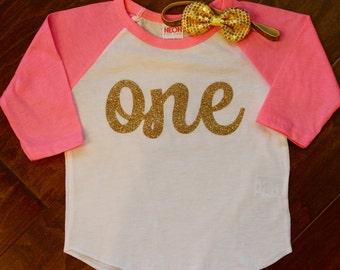 One Birthday Shirt, Girls First Birthday Shirt, Girls First Birthday, 1st Birthday Shirt; Girls 1st Birthday, One, One Birthday Shirt