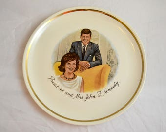 President and Mrs. Kennedy Commemorative Plate