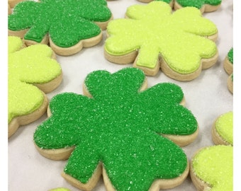 St. Patricks Day Clover Sugar Cookies!