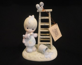 PRECIOUS Moments Large Figurine My Days Are Blue Without You