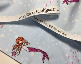 Out to Sea, Mermaid Play, by Sarah Jane, for Micheal Miller Fabrics, blue, breeze, quilting fabric, dc5630