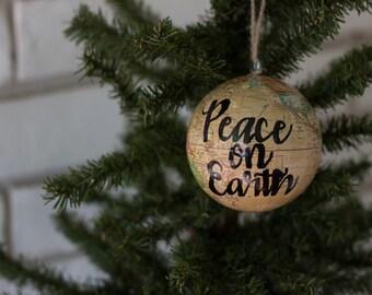 Cream Globe Ornament