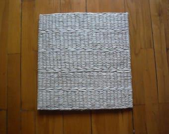 Planta cuadrada tejida a mano amortiguador natural hierba paja de estera de Yoga/Meditación/PUF amortiguador/PUF otomano/meditación almohada/hogar decoración/rústico
