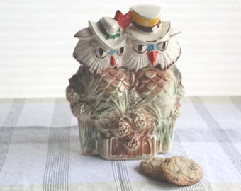 McCOY COOKIE JAR When Shadows Fall Mr. and Mrs. Owl 1952-1955