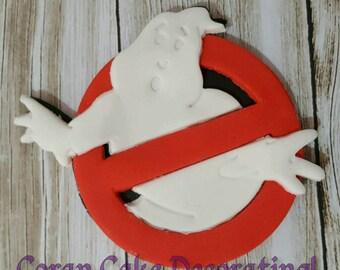 Edible 10cm Ghostbusters Logo Cake Topper!