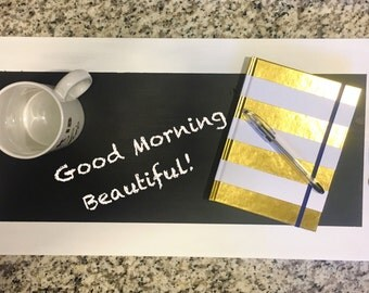 Wood Serving Tray / White Tray / Tray with handles / Chalkboard Tray / Serving Tray / Rustic Serving Tray / Party tray / Rustic chalkboard