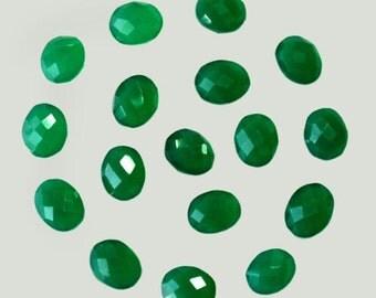 Natural GREEN ONYX cabochon - gemstone cabochon- Oval Checkerboard Cut- supplies -gemstone lot, 52 cts, Wholesale Gemstone, 17 Pcs