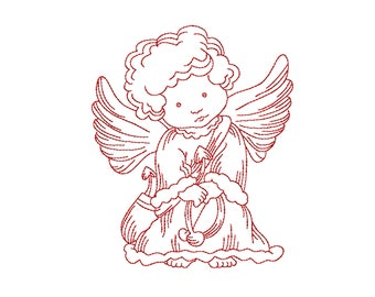 Machine embroidery applique Angel Nr. 2