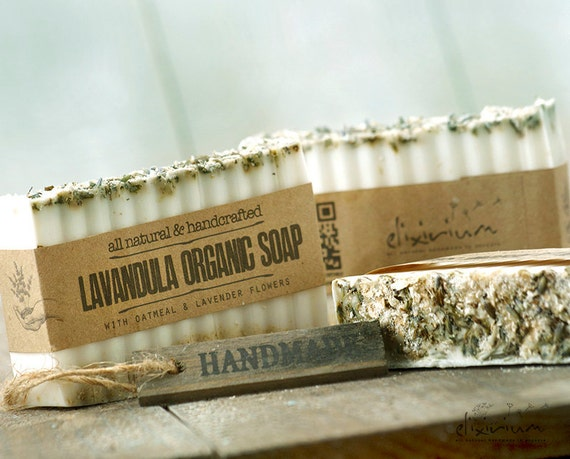 Lavandula ORGANIC SOAP • Lavender Oatmeal Organic Bar Soap, Vegan Soap, Natural Soap, Handmade Soap, Organic Skin Care, Rustic soap, soap