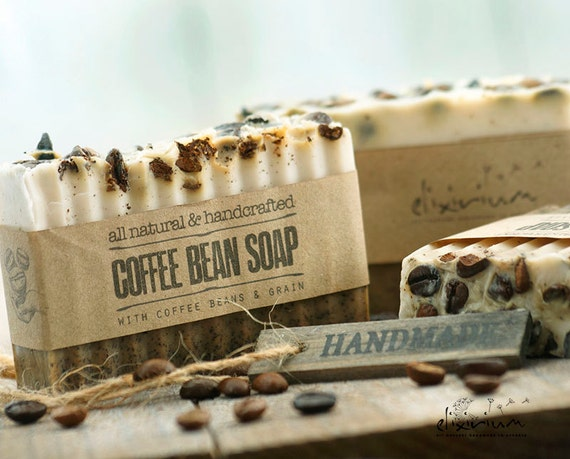 Coffee Bean ORGANIC SOAP~Coffee Soap Bar~Organic Soap~Vegan Soap~All Natural Soap~Handmade Soap~Anti Cellulite soap~Rustic soap~soap