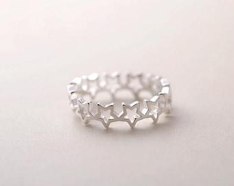 "925 sterling silver ring ""Star"""