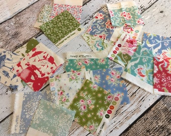 Tilda NEW Circus fabric range samples x 20 approx 5cm squares