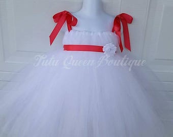 Black Tiffany Dress White Flower Girl Dress Aqua Pink Ivory Tutu Dresses