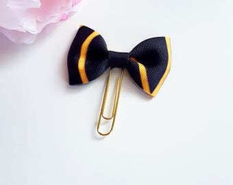 Black and Gold Planner bow paperclip or TN Charm