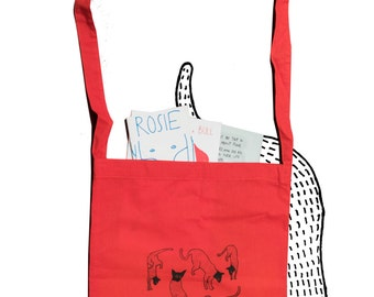 TOTE BAG • Screen Print • Cotton bag • Burglar Cat • Cat