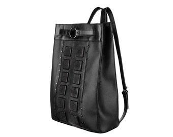 Black backpack leather backpack men backpack gothic backpack handmade backpack woman backpack big backpack black leather backpack men