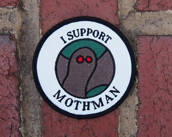 I Support Mothman Iron-On Patch