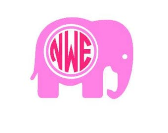 Free Shipping! Elephant monogram
