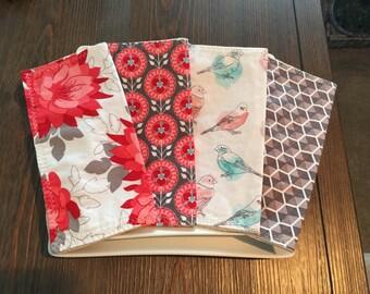 4 piece everyday handmade cloth napkins