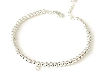 Sterling Silver Beaded Ball Bracelet