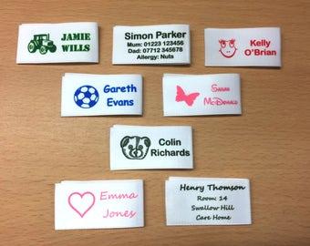 Woven Name Label Alternative Ideal for School & Nursery Children and also Care Home Residents