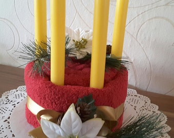 Money gift towel cake, Christmas, advent