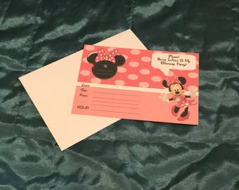 Minnie Mouse Party Invitations *Pack Of 10*