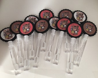 Five Nights At Freddys FNAF Birthday Party Favors Bubbles BUBBLE Wands set of 12