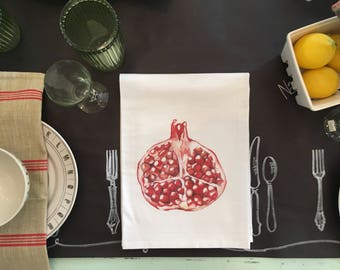 Pomegranate Tea Towel