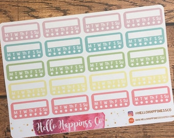 Habit Tracker Stickers - Planner Stickers - Functional Stickers