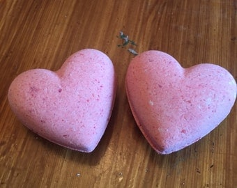 Heart shaped bath bombs