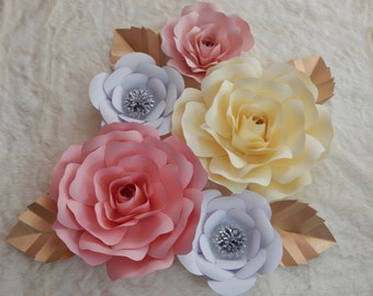 Paper Flowers Wall Decor/Nursery Decor Backdrop Decor - Customize your Order!!!