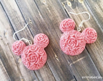 Mickey Mouse Rose Earrings