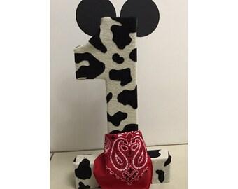 Cowboy Mickey Birthday ONE (1) | Mickey Mouse Birthday