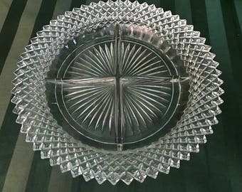 Miss America Four Part Relish Plate