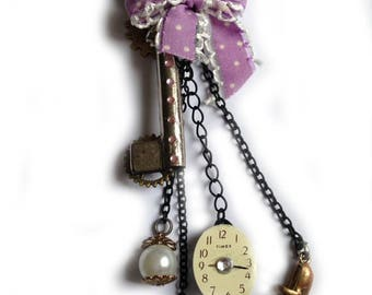 Steampunk key Schlüssel pendant Alice in wonderland