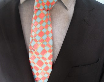 Necktie Hand Painted pure silk by C. A. Gordon Clothing Co.: handpainted, handmade