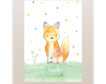 Fox Kids Art // Nursery Art // 'Oh Baby, Baby!' Baby and Kids Framed Prints // Wall Art // Children