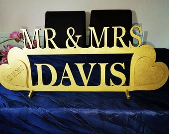 Mr&Mrs  Wooden Standing Sign
