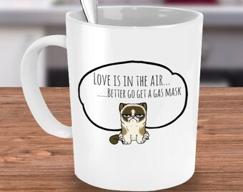 Grumpy cat mug, cat lover gift, valentines mug, cat mug, gifts for cat lovers, grumpy cat cup, angry cat mug, cat lover mug, kitty mug, cat
