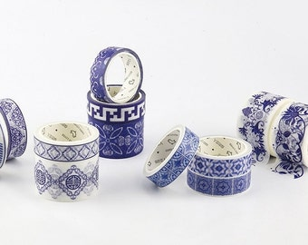 China Blue Washi Tape Set