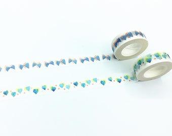 Bows/Hearts Washi Tape - Watercolor Series
